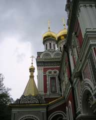 Church with golden domes Shipka