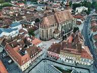 Above the center of Brasov