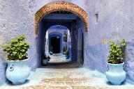 Somewhere in the medina of Chefchaouen