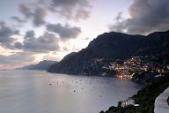 Sunset over Positano