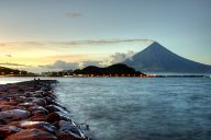 Sunset over the Legazpi city