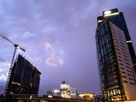 Lightings over La Defense