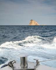 By boat to the island of Stromboli