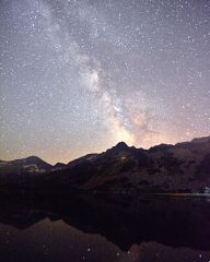 Milky Way over Muratovo Lake