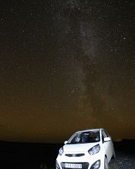 Milky Way over a Kia Picanto