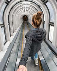 Follow me... On the escalator
