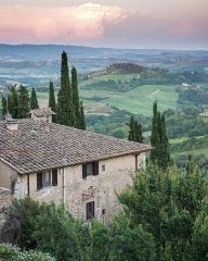 Sunset near San Gimignano
