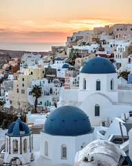 At sunrise in Oia