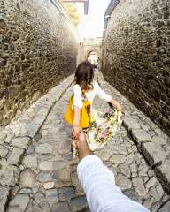 Follow me... By the cobblestone