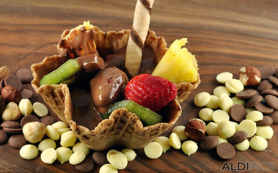 Chocolate with fruits