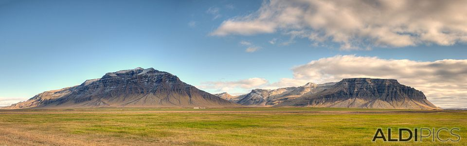 Mountains in West Iceland