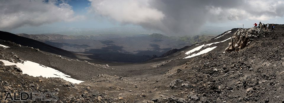 Crater of Etna