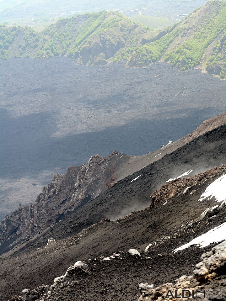 Crater of Mount Etna