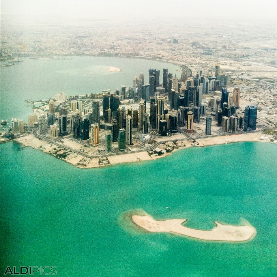 Flight over Doha