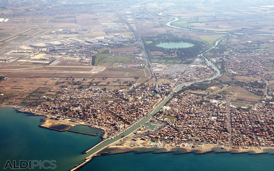 High above Fiumicino