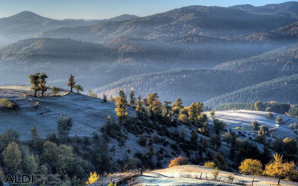 Autumn morning over Western Rhodope