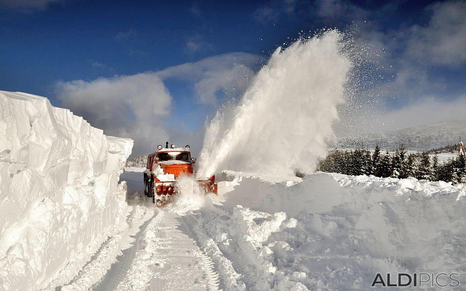 Snowplow of Belmeken