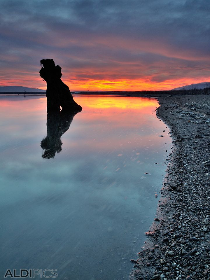 Sunset in Jrebchevo dam
