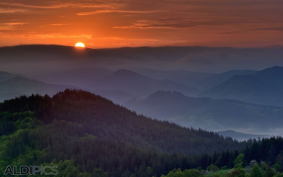 Sunrise in the Rhodopes