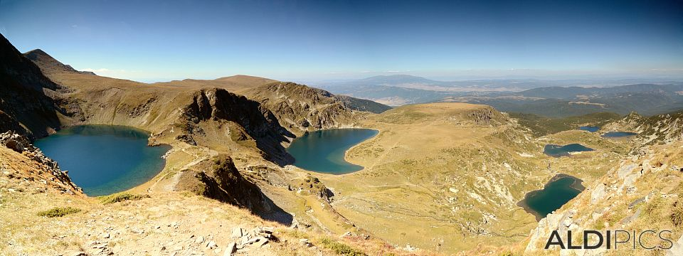 Panorama of the Seven Rila Lakes