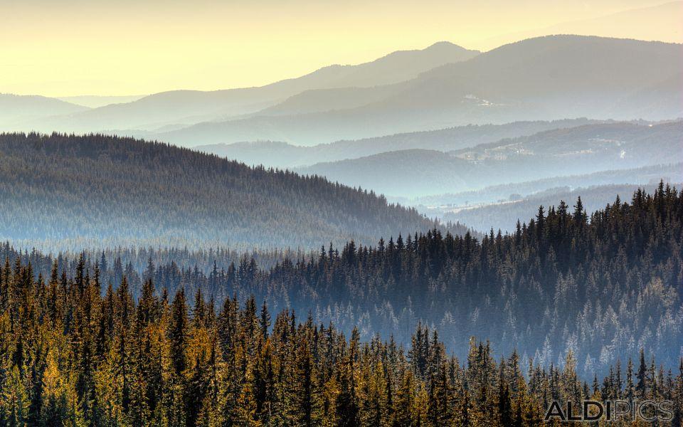 Планински изглед от Белмекен