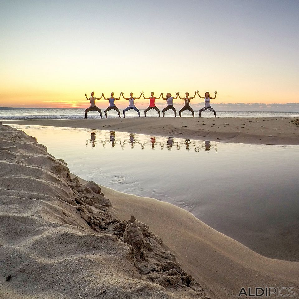 Yoga on the coast
