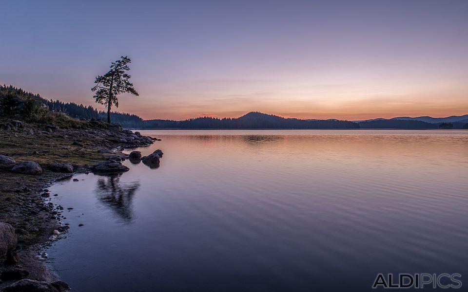 Sunset at Shiroka Polyana