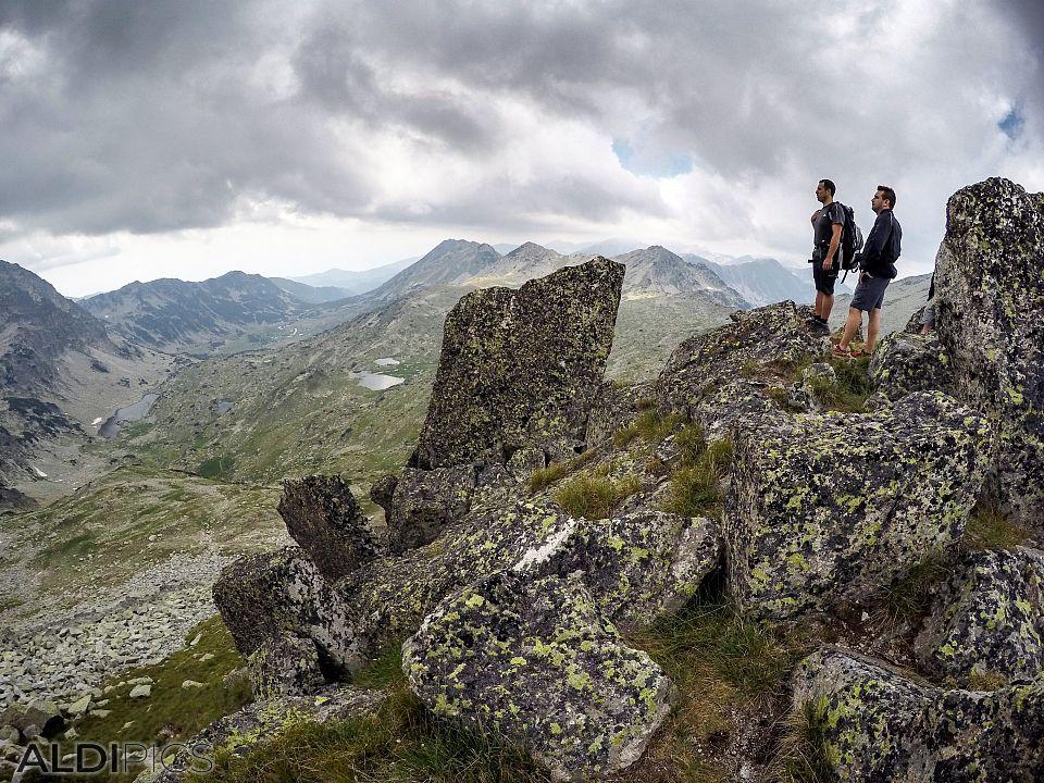 Peaks above the Tevno lake