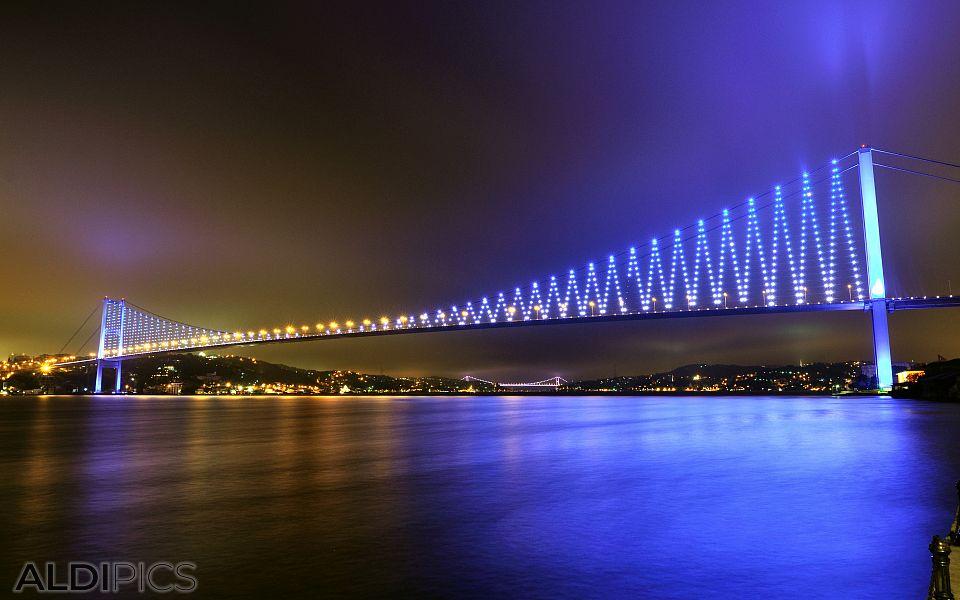 The bridges over the Bosphorus