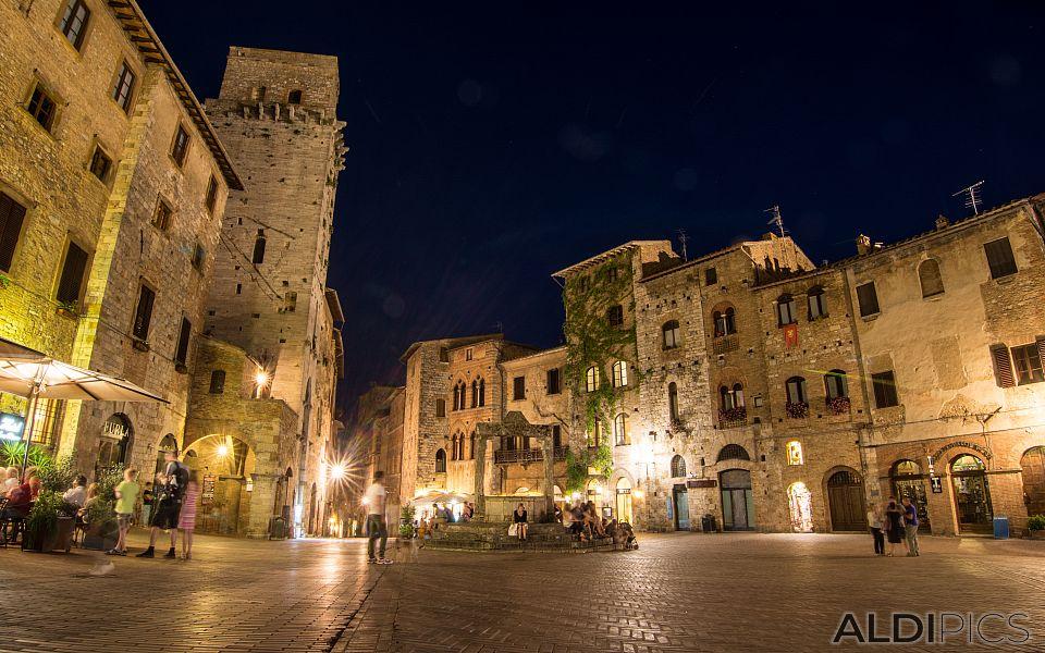 Night at San Gimignano