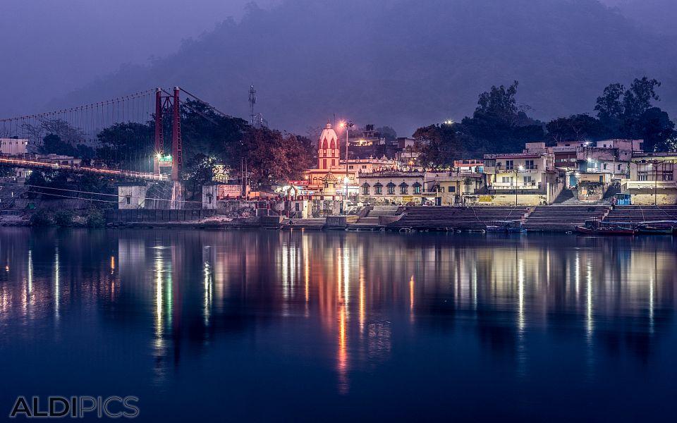 Rishikesh in the evening