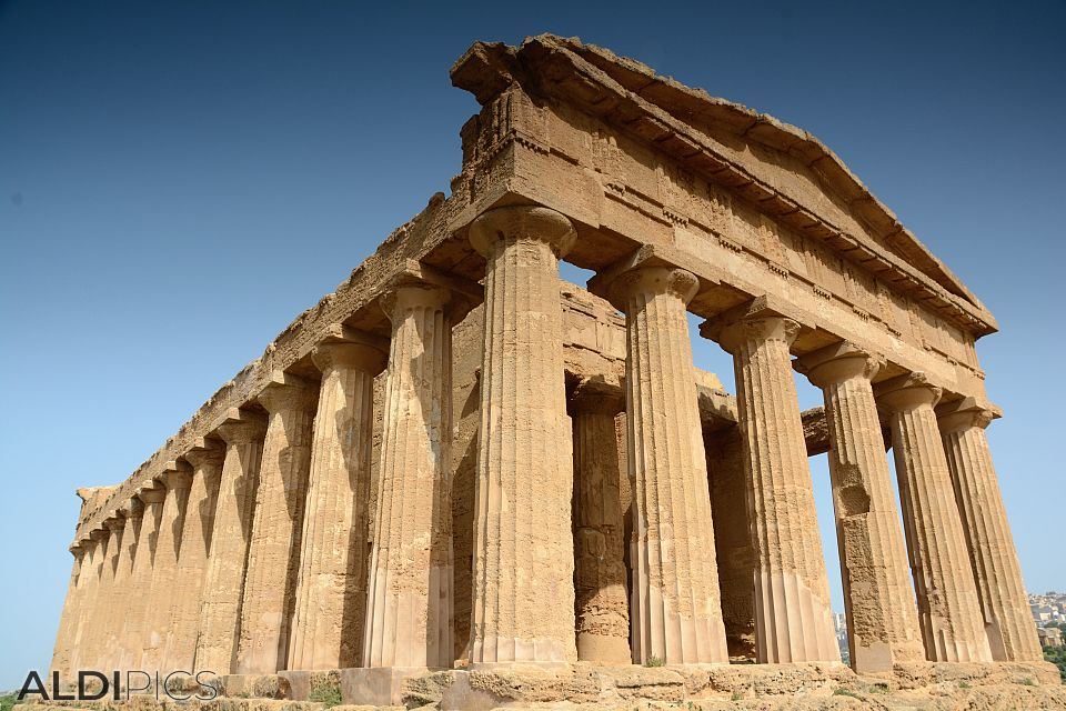 Greek temple near Agrigento