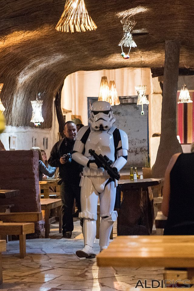 Star Wars trooper in San Pedro de Atacama