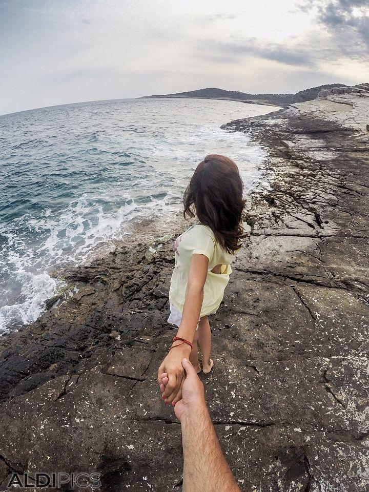 Follow me... On the rocks