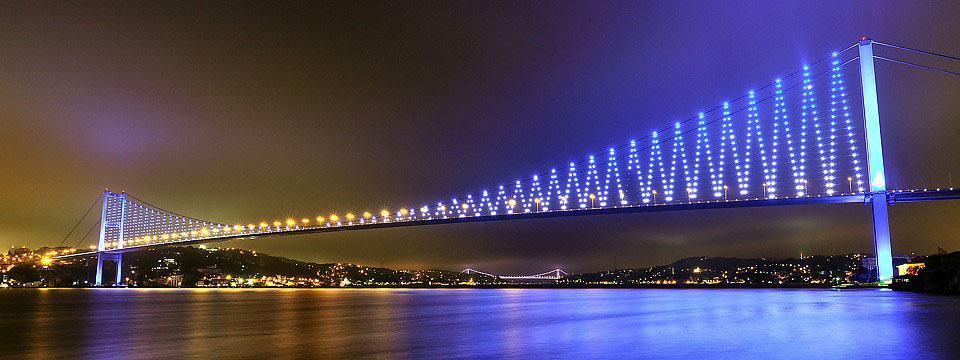 The bridges over the Bosphorus
